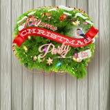Árbol de abeto de la Navidad - burbuja para el discurso EPS 10 Imagen de archivo