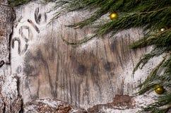 Árbol de abeto de la Navidad con la decoración Fotos de archivo