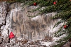 Árbol de abeto de la Navidad con la decoración Fotografía de archivo libre de regalías