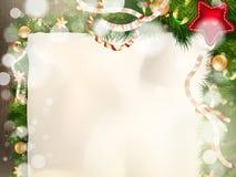 Árbol de abeto de la Navidad EPS 10 Foto de archivo