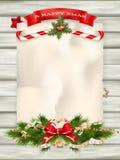Árbol de abeto de la Navidad EPS 10 Imágenes de archivo libres de regalías