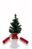 árbol de abeto del Nuevo-año Foto de archivo libre de regalías