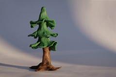 Árbol de abeto del Plasticine Imagen de archivo libre de regalías