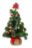 Árbol de abeto plástico de la Navidad aislado Fotos de archivo