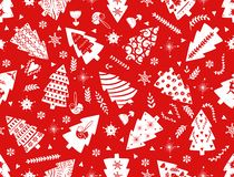 Árbol de abeto simple rojo de la Navidad para el estilo nórdico escandinavo de las celebraciones del día de fiesta La Navidad, de