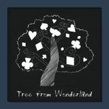 Árbol de Alicia en el país de las maravillas Imágenes de archivo libres de regalías