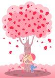 Árbol de amor Fotos de archivo