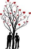 Árbol de amor Fotografía de archivo