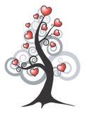 Árbol de amor abstracto del vector Foto de archivo libre de regalías