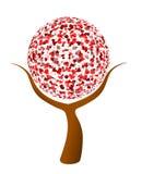Árbol de amor del vector Fotos de archivo