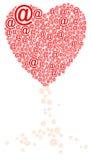 Árbol de amor en línea ilustración del vector