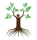 Árbol de amor de la gente con las raíces libre illustration