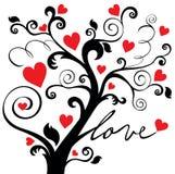 Árbol de amor ornamental Imágenes de archivo libres de regalías
