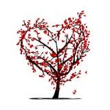 Árbol de amor para su diseño stock de ilustración