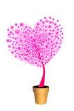 Árbol de amor rosado Fotos de archivo