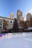 Árbol de Bryant Park Christmas Foto de archivo libre de regalías