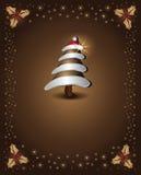 Árbol de chocolate de la Navidad Imagen de archivo