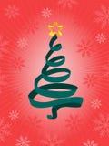 Árbol de Chrismas de la cinta Fotos de archivo libres de regalías