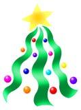 Árbol de cinta de la Navidad Imagenes de archivo