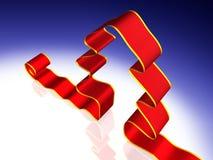 Árbol de cinta rojo de la Navidad ilustración del vector