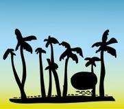 Árbol de coco de la playa imágenes de archivo libres de regalías