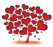 Árbol de corazones Fotos de archivo libres de regalías