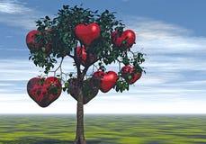 Árbol de corazones Foto de archivo