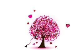 Árbol de corazones Imagen de archivo libre de regalías