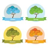 Árbol de cuatro estaciones Imágenes de archivo libres de regalías