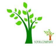 Árbol de dibujo del logotipo de la compañía stock de ilustración