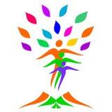 Árbol de familia abstracto ilustración del vector
