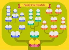 Árbol de familia, tabla de la genealogía Fotos de archivo libres de regalías