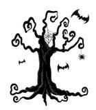 Árbol de Halloween Foto de archivo libre de regalías