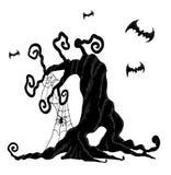 Árbol de Halloween Fotos de archivo libres de regalías