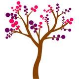 Árbol de hoja caduca colorido con licencia coloreada otoño ilustración del vector