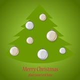 Árbol de la bola de la Navidad. Fotografía de archivo