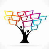 Árbol de la comunicación stock de ilustración
