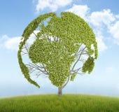 Árbol de la correspondencia de mundo ilustración del vector