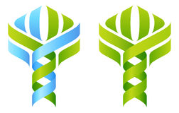 Árbol de la DNA stock de ilustración