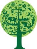 Árbol de la ecología y de la naturaleza ilustración del vector