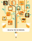 Árbol de la educación stock de ilustración
