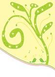 Árbol de la estrella con el pájaro Imagen de archivo libre de regalías