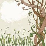 Árbol de la fantasía y fondo abstractos de la planta libre illustration