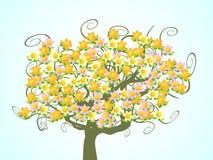 Árbol de la flor Ilustración del Vector