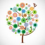 Árbol de la flor del resorte stock de ilustración