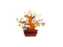 Árbol de la gema del encanto de la prosperidad Imagenes de archivo