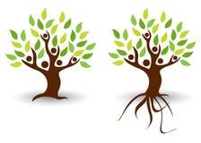 Árbol de la gente stock de ilustración