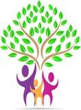 Árbol de la gente de la familia stock de ilustración