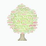 Árbol de la gerencia de la abundancia ilustración del vector