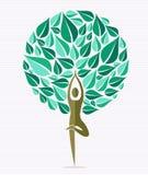 Árbol de la hoja de la yoga de la India libre illustration